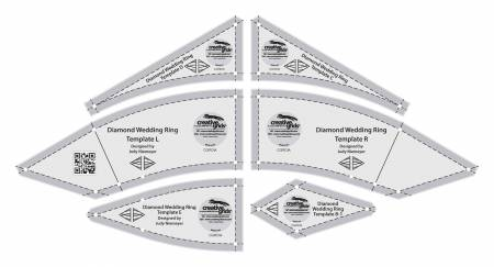 Creative Grids Diamond Wedding Ring Templates – Bobkatquilts.com